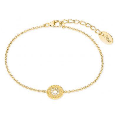 s.Oliver 2027621 Damen-Armband Armkette Silber vergoldet Zirkonia 4056867021104