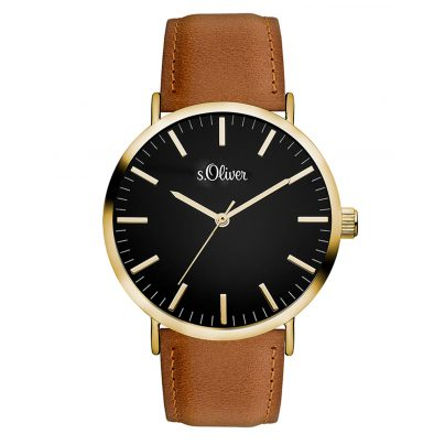 s.Oliver SO-3375-LQ Damen-Armbanduhr mit Lederband 4035608032432