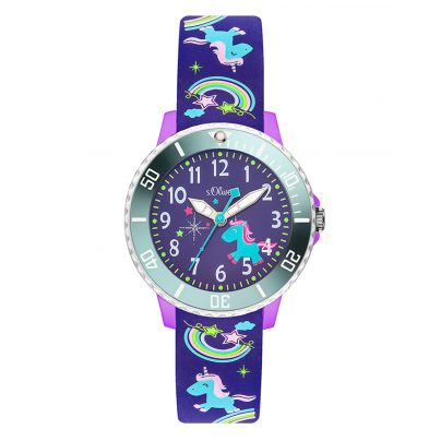 s.Oliver SO-3434-PQ Kids Watch Unicorn 4035608032999