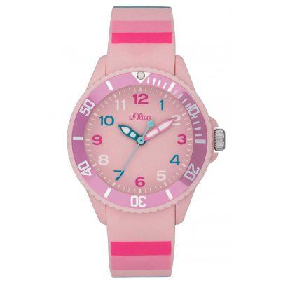 s.Oliver SO-4003-PQ Kinder-Armbanduhr Rosa 4035608040369