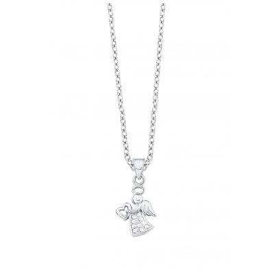 s.Oliver 2020955 Silber Mädchen-Halskette Engel 4056867009706