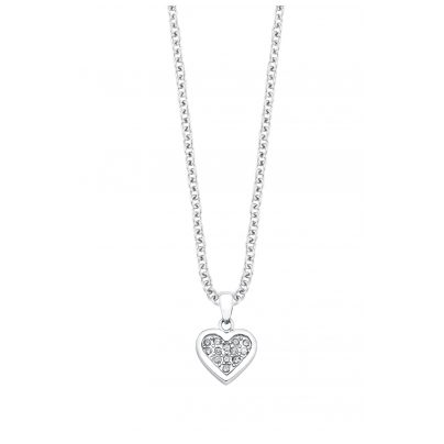 s.Oliver 9054046 Girls' Necklace with Heart Pendant 4020689054046