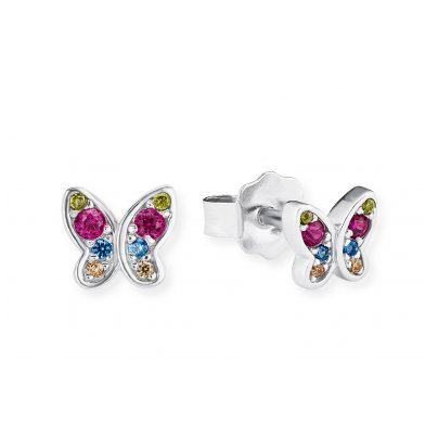 s.Oliver 2020868 Girls' Earrings Butterfly 4056867009195