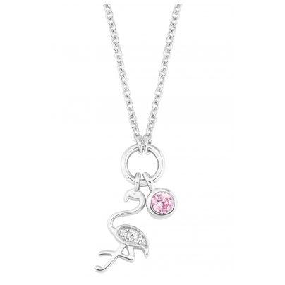s.Oliver 2027460 Silber Mädchen-Halskette Flamingo 4056867020374