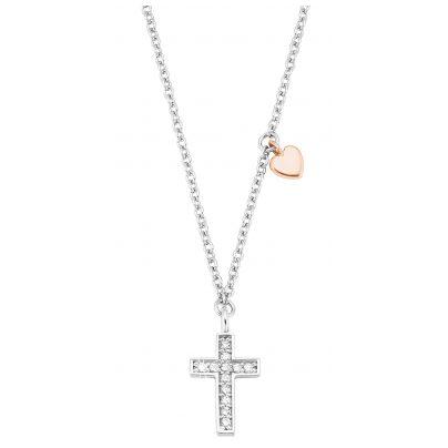 s.Oliver 2028451 Kinder-Halskette für Mädchen Kreuz 925 Silber 4056867023511
