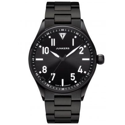 Junkers 9.03.01.02.M Herren-Armbanduhr mit Metallband Flieger Schwarz 4250948691457