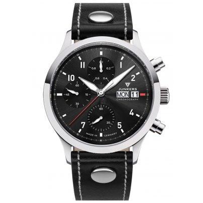 Junkers 9.14.01.02 Herren-Chronograph Pilotenuhr Cockpit Schwarz 4250948690832