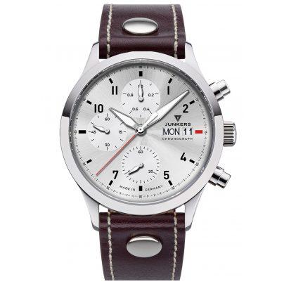 Junkers 9.14.01.03 Herren-Chronograph Pilotenuhr Cockpit Braun / Silber 4250948690870