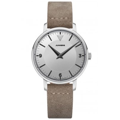 Junkers 9.01.01.03 Damen-Quarzuhr Therese Lederband Taupe / Silber 4250948691969