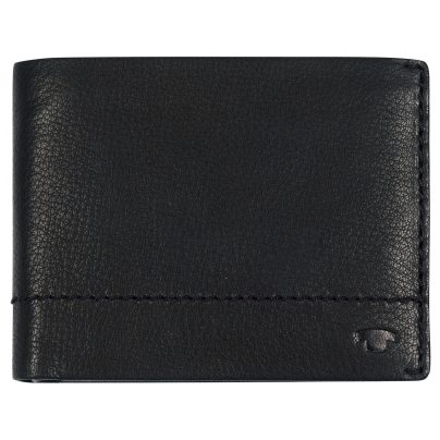 Tom Tailor 25302 Herren Leder-Geldbörse Kai Schwarz Querformat mit RFID Schutz 4251234444467