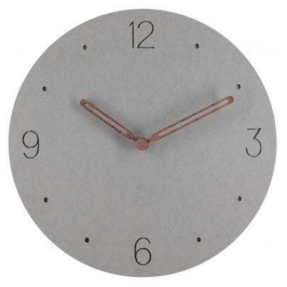 trendor 75860 Analogue Wall Clock Round Grey Ø 29 cm Wooden Hands 4260641758609