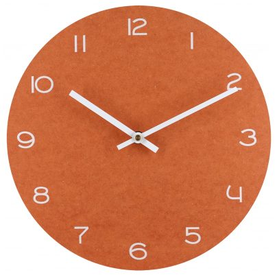 trendor 75861 Wanduhr orange mit weißen Zahlen Ø 29 cm 4260641758616