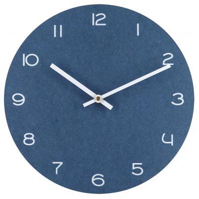trendor 75865 Blaue Wanduhr mit weißen Zahlen Ø 29 cm ohne Ticken 4260641758654