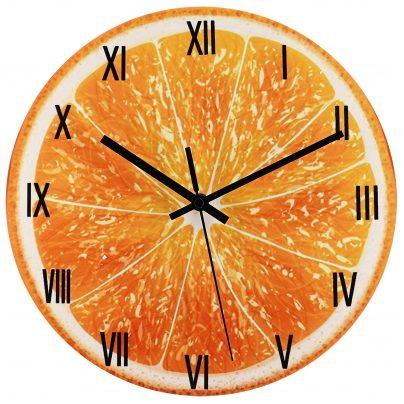 trendor 75873 Wanduhr Orange Ø 30 cm Quarz lautlos ohne Ticken 4260641758739