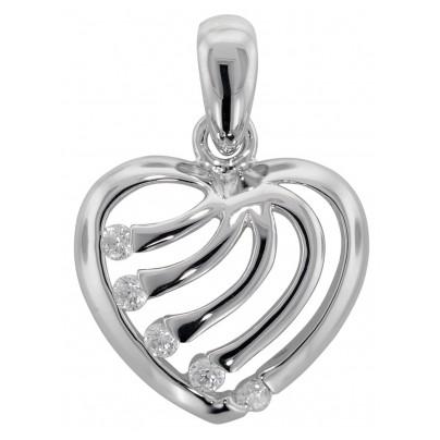 trendor 81361 Silber Herz Anhänger 4260266581361