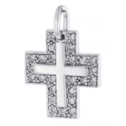 trendor 64437 Silber Kreuz-Anhänger 4260227764437