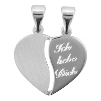 trendor 70050 Silberanhänger Teilbares Herz 4260333970050