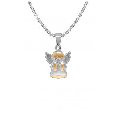 trendor 72788 Silber Halskette mit Engel-Anhänger Bicolor 4260333972788