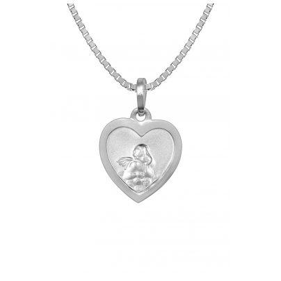 trendor 73082 Halskette mit Schutzengel Herz-Anhänger Silber 925 4260333973082