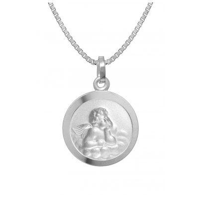 trendor 73198 Silberkette für Mädchen mit Engel-Anhänger 4260333973198