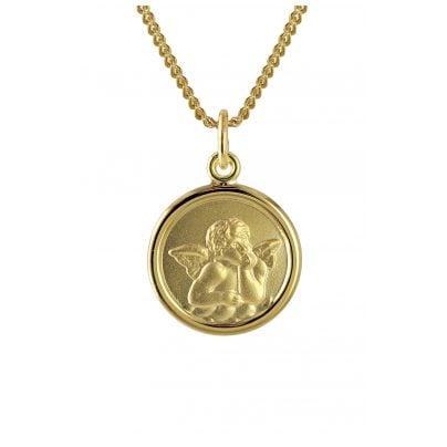 trendor 73426 Gold Angel Pendant for Kids on 40 cm Gold-Plated Necklace 4260333973426