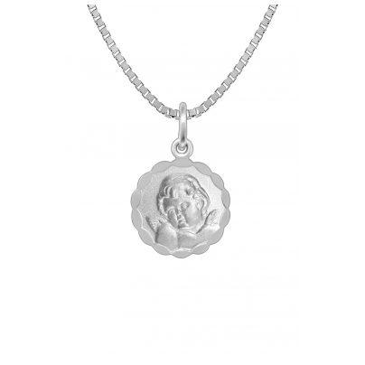 trendor 73341 Silber-Halskette für Kinder mit Engel-Anhänger 4260333973341