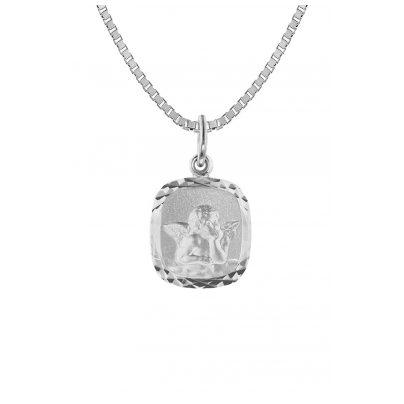 trendor 73372 Engel-Anhänger mit Silber-Halskette mit für Mädchen 4260333973372