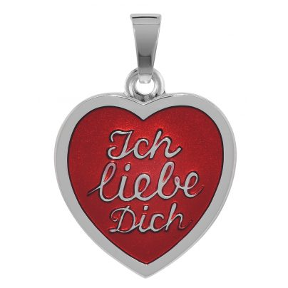 """trendor 78759 Herz-Anhänger """"Ich liebe Dich"""" Silber 925 4260333978759"""