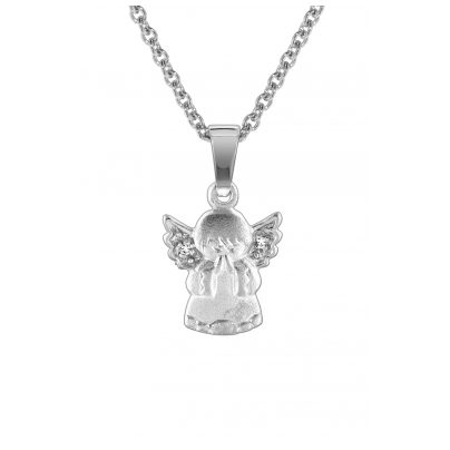 trendor 78599 Kids Silver Necklace with Angel 4260333978599