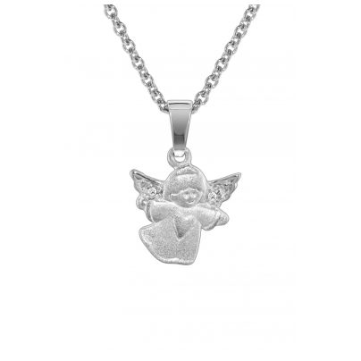 trendor 78605 Kinder-Halskette mit Engel-Anhänger Silber 925 4260333978605