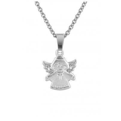 trendor 78612 Kids Silver Necklace with Angel Pendant 4260333978612