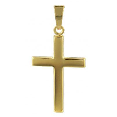 trendor 35726 Kreuz Gold-Anhänger 333 / 8 Karat 21 mm 4260435357261