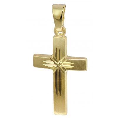 trendor 35743 Kreuz-Anhänger 333 Gold 19 mm 4260435357438