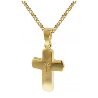 trendor 35750 Kreuz-Anhänger für Kinder Gold 333 4260435357506