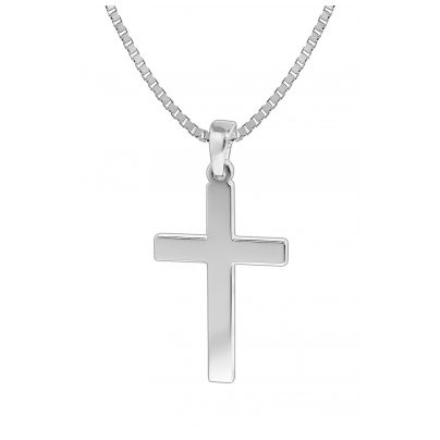 trendor 35844 Herren-Halskette mit Kreuz-Anhänger Silber 925 4260435358442