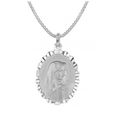 trendor 35853 Mater Dolorosa Anhänger mit Herrenkette Silber 4260435358534