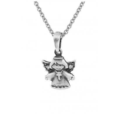 trendor 35870 Silberanhänger Engel mit Kette für Kinder 4260435358701