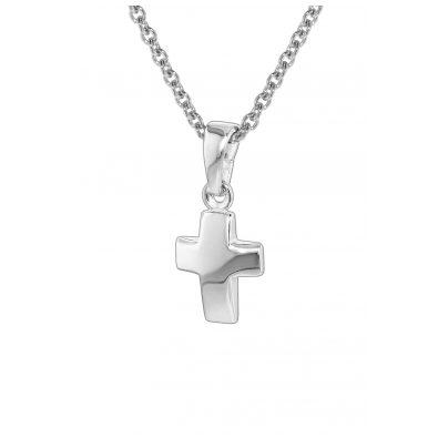 trendor 35787 Silber Kinder-Halskette mit Kreuz-Anhänger 4260435357872
