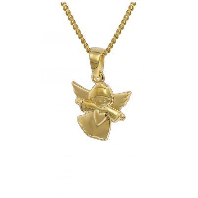 trendor 35820 Gold Anhänger Engelchen und Kette für Kinder 4260435358206