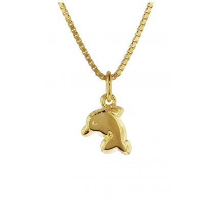 trendor 35916 Delfin-Anhänger für Kinder Gold 333 4260435359166