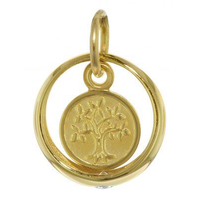 trendor 08275 Taufring mit Lebensbaum 333 Gold 4260497082750