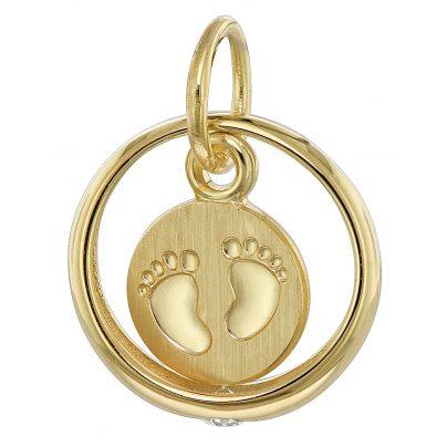 trendor 08276 Taufring mit Baby-Fußabdruck 333 Gold (8 Karat) 4260497082767