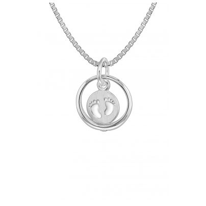 trendor 08309 Taufring mit Kinder-Halskette Silber 925 4260497083092