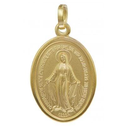 trendor 08611 Madonna Milagrosa Anhänger Gold 585 4260497086116
