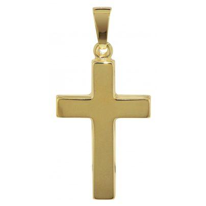 trendor 08617 Kreuz Goldanhänger 14 Karat 24 mm 4260497086178