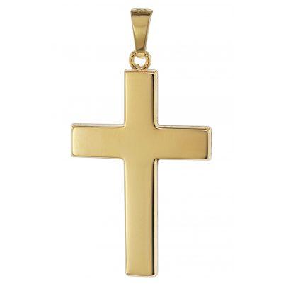 trendor 08624 Kreuz Anhänger für Männer 585 Gold 27 mm 4260497086246