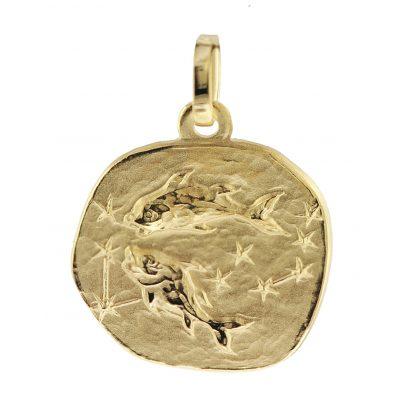 trendor 08727 Sternzeichen-Anhänger Fische 333 Gold 16 mm 4260497087274