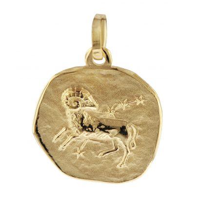 trendor 08728 Sternzeichen-Anhänger Widder 333 Gold 16 mm 4260497087281