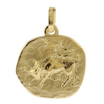 trendor 08729 Sternzeichen-Anhänger Stier 333 Gold 16 mm 4260497087298