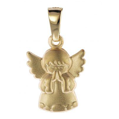 trendor 08758 Childrens Angel Pendant Gold 585/14 ct 4260497087588